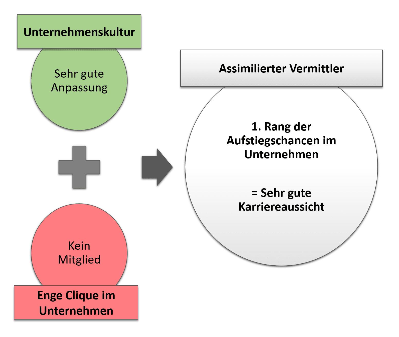 Assimilierter Vermittler - Merkmale